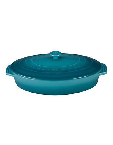 Le Creuset Oval Casserole with Lid-CARIBBEAN BLUE-One Size