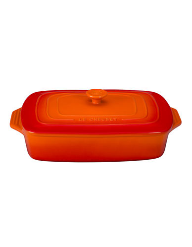 Le Creuset Rectangular Casserole with Lid-FLAME-3.3L