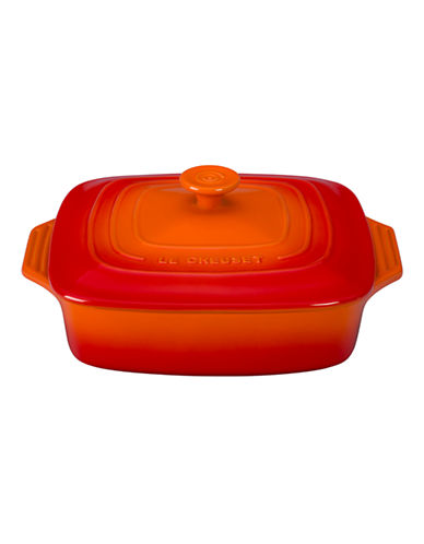 Le Creuset Square Casserole with Lid-FLAME-2.6 L