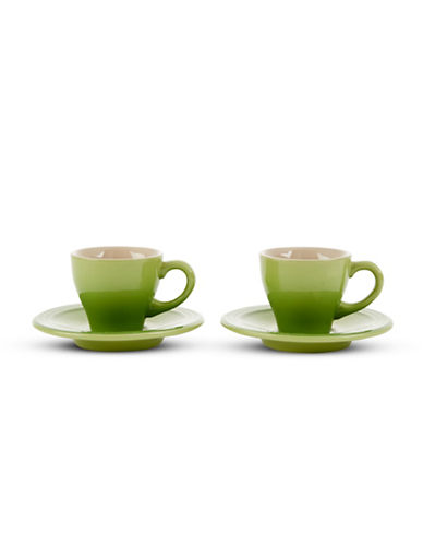 Le Creuset Set of 2 Espresso Cups and Saucers-PALM-0.5