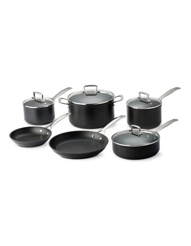 Le Creuset Forged Nonstick 10-Piece Set - Induction Ready-BLACK-One Size