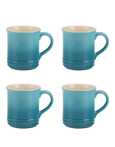 Le Creuset Set of 4 Mugs-CARIBBEAN-One Size