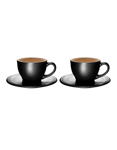 Le Creuset Set of Two Cappuccino Cups-LICORICE-One Size