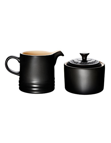 Le Creuset Cream and Sugar Set-LICORICE-One Size