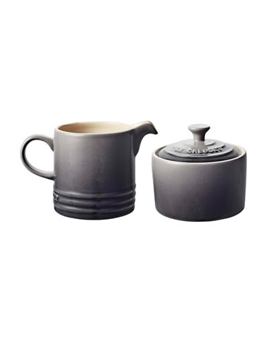 Le Creuset Three-Piece Stoneware Cream and Sugar Set-OYSTER-One Size