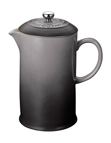 Le Creuset Stoneware French Press-OYSTER-One Size