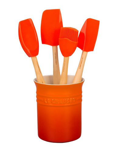 Le Creuset Five-Piece Utensil Set-FLAME-One Size