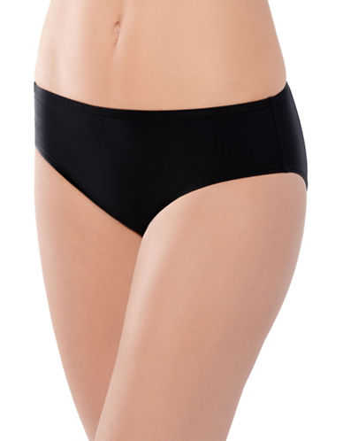 Christina Semi High Waist Bikini Bottom-BLACK-12