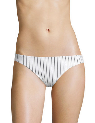 Design Lab Lord & Taylor Girl Gang Hipster Swim Bottom-WHITE-Medium