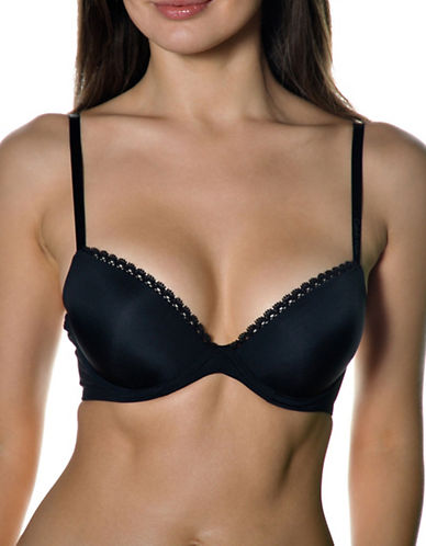 Calvin Klein Seductive Comfort Customized Lift Bra-BLACK-32C