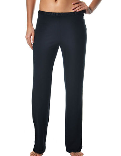 Calvin Klein Essentials With Satin Pj Pant-CHARCOAL-Small