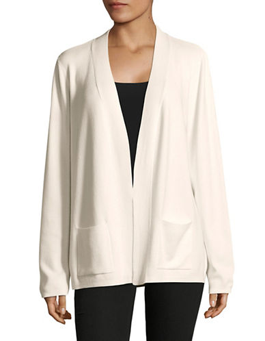Jones New York Ribbed Long Cardigan-IVORY-Small
