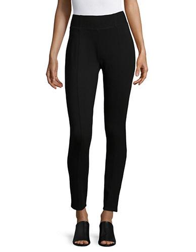 Jones New York High Waist Slim Fit Pants-BLACK-Medium