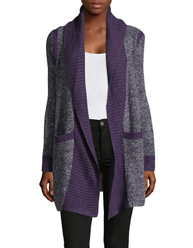 Jones New York Oversized Shawl Collar Cardigan-PURPLE-Medium