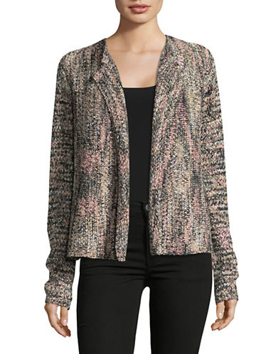 Jones New York Open Front Knit Cardigan-ASSORTED-Medium