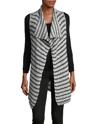 Jones New York Striped Tape Sweater Vest-INDIGO COMBO-Medium