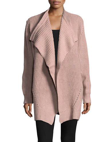 Jones New York Chunky Open Front Cardigan-BEIGE-Medium