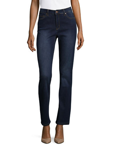 Jones New York Classic Straight Leg Jeans-INDIGO WASH-12