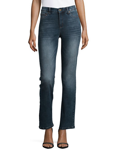 Jones New York Classic Straight Leg Jeans-MADISON WASH-2