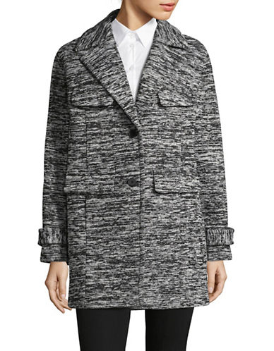 Jones New York Boucle Jacket-GREY-Medium