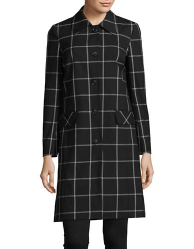 Jones New York Windowpane Suiting Coat-BLACK/WHITE-16