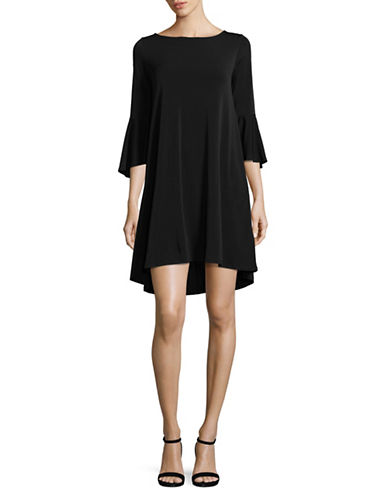Jones New York Bell-Sleeve Hi-Lo Dress-BLACK-Large