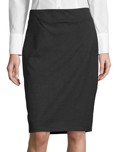 Jones New York Pencil Skirt-GREY-16