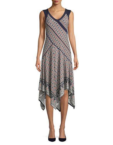 Jones New York Printed Handkerchief Dress-MULTI-12