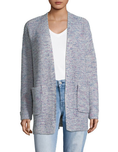 Jones New York Oversized Open-Front Cardigan-GREY-Medium 89787365_GREY_Medium