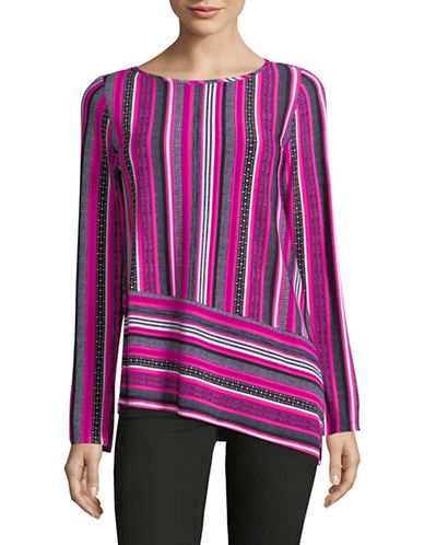 Jones New York Patterned Long-Sleeve Top-ASSORTED-Small