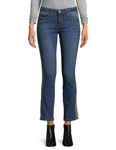 Jones New York Madison Slim Braided Cuff Jeans-BLUE-16