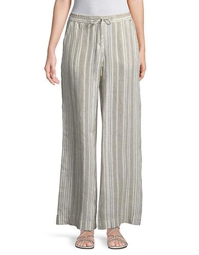 Stripe Linen Easy Pants by Jones New York