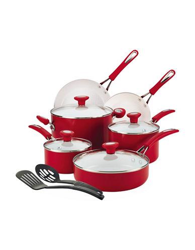 Silverstone 12-Piece Silverstone Cxi Ceramic Cookware Set-RED-One Size