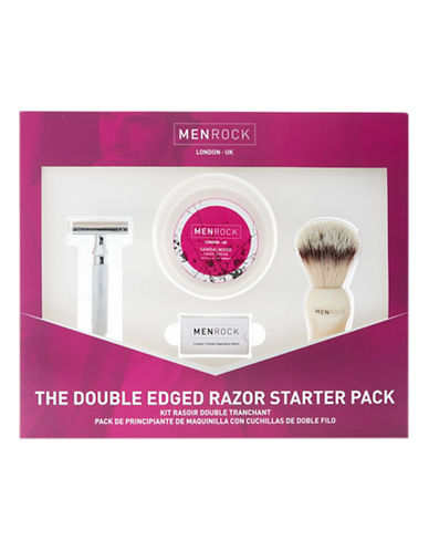 Men Rock Double Edged Razor Set-NO COLOUR-0
