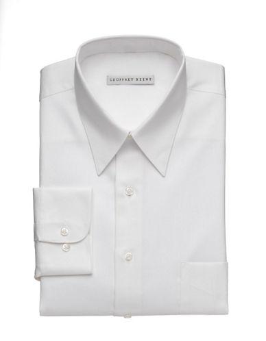 Geoffrey Beene Wrinkle Free Sateen Shirt-WHITE-16.5-32/33