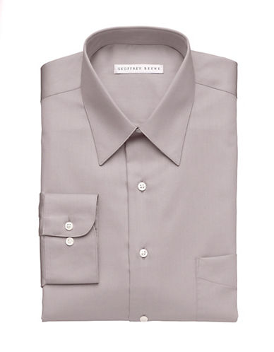 Geoffrey Beene Wrinkle Free Sateen Shirt-BLUE-17-32/33