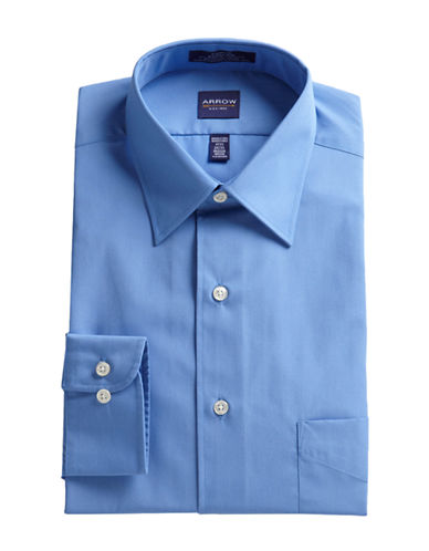 Arrow Long Sleeve Classic Fit Dress Shirt-BLUE-18.5-34/35