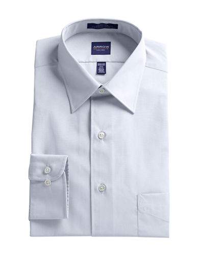 Arrow Poplin Dress Shirt-WHITE-18-34/35