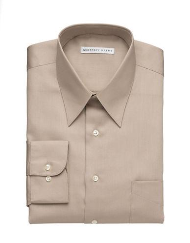 Geoffrey Beene Wrinkle Free Sateen Shirt-TAN-15.5-32/33