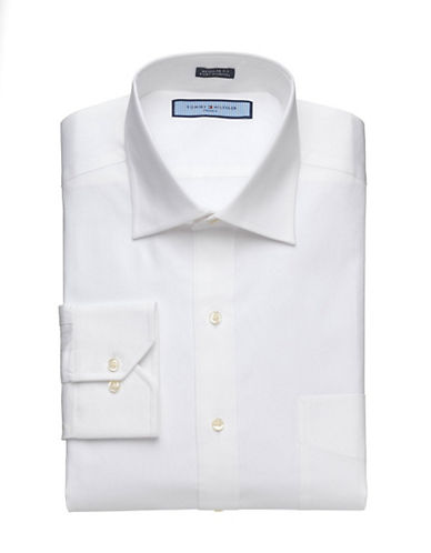 Tommy hilfiger Solid White Pinpoint Shirt white 155  34/35
