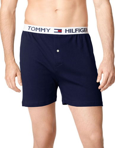 Tommy Hilfiger Athletic Knit Boxer-DARK NAVY-Small