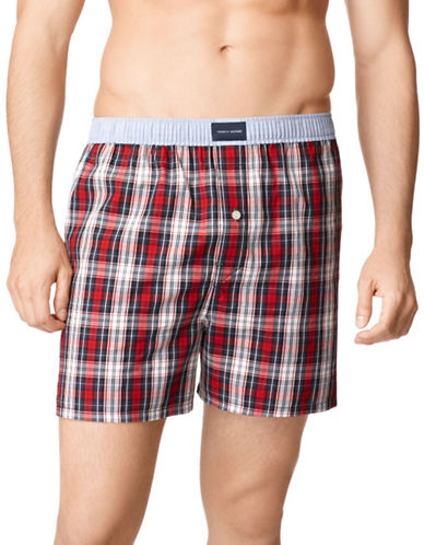 Tommy Hilfiger Woven Boxer-RED-Medium