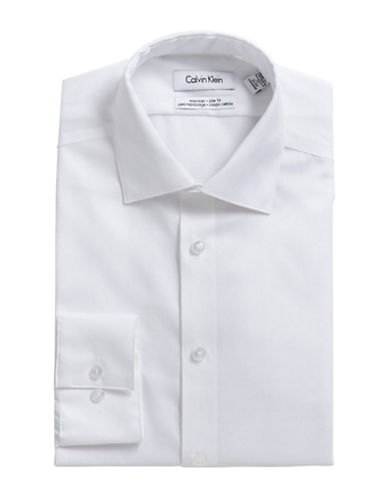 Calvin Klein Slim Fit Dress Shirt-WHITE-14.5-32/33