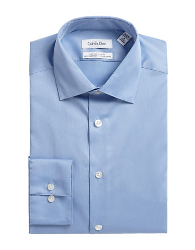 Calvin Klein Slim Fit Dress Shirt-BLUE-17.5-32/33
