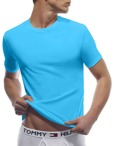 Tommy Hilfiger Classic Crew Neck T Shirt-AQUA-Medium