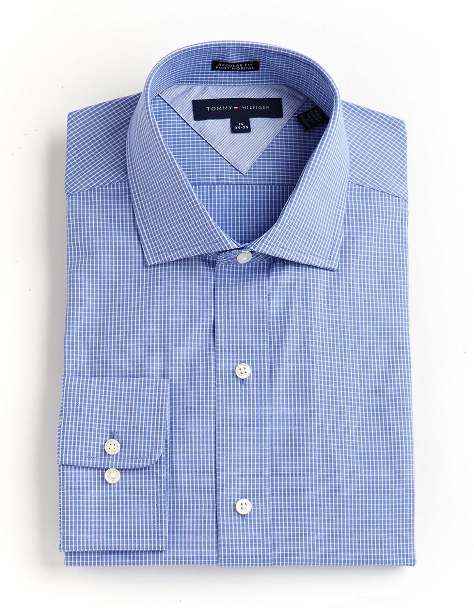 Tommy hilfiger Tommy Hilfiger Ls Regular Fit Dress Shirt blue 18  34/35
