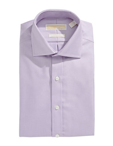 Michael Michael Kors Long Sleeve Slim Fit Shirt-VIOLET-16.5-32/33