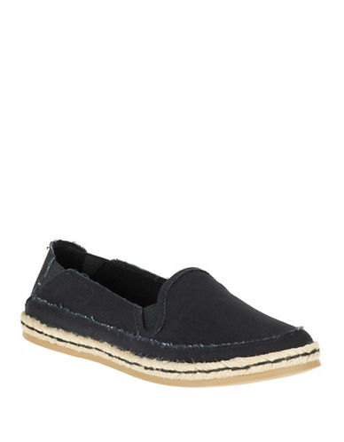 Hush Puppies Cassie Kelli Canvas Loafers-BLACK-9