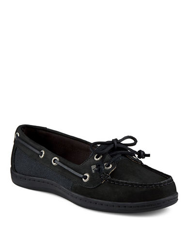 Sperry Firefish Leather-Blend Loafers-BLACK-9