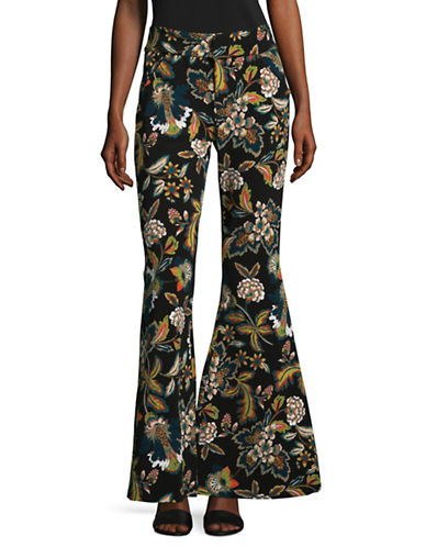 I.N.C International Concepts Printed Flared Pants-BLACK MULTI-6